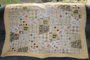yellow and green baby quilt front