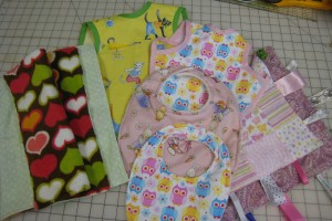 baby bibs and burp rags