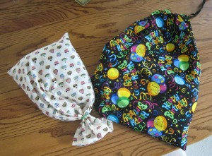 drawsting birthday bag