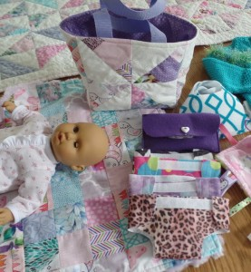 Doll diapers and wipe case
