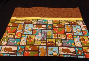 Chipmunk pillowcase