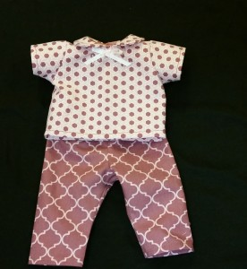 "12"" doll pants and shirt"