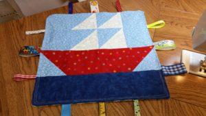 sail boat tag blanket