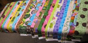 pairs of fabric strips