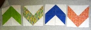 half square triangle arrows