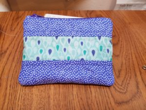 purple zipper pouch